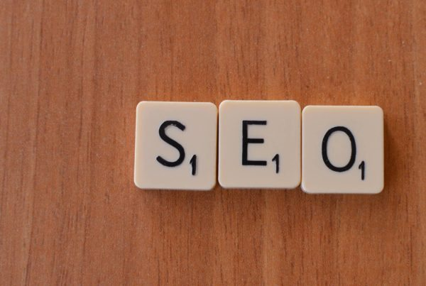 SEO spelled with scrabble tiles